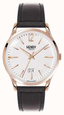 Henry London quadrante bianco Richmond cinturino in pelle nera HL41-JS-0038