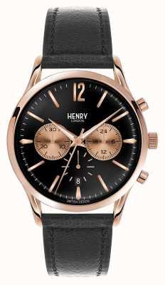 Henry London Richmond in pelle cinturino nero cronografo HL41-CS-0042
