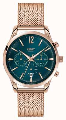 Henry London Stratford oro rosa placcato maglia cronografo HL39-CM-0142