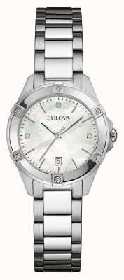 Bulova Delle donne diamante in acciaio inox set dia argento 96W205