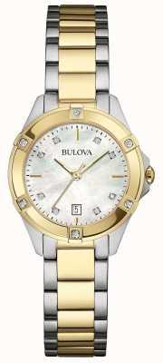 Bulova Onorevoli due tono galleria diamante orologio 98W217