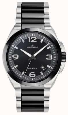 Junghans Spektrum automatico | cinturino in acciaio inossidabile nero / argento | 027/1500.44