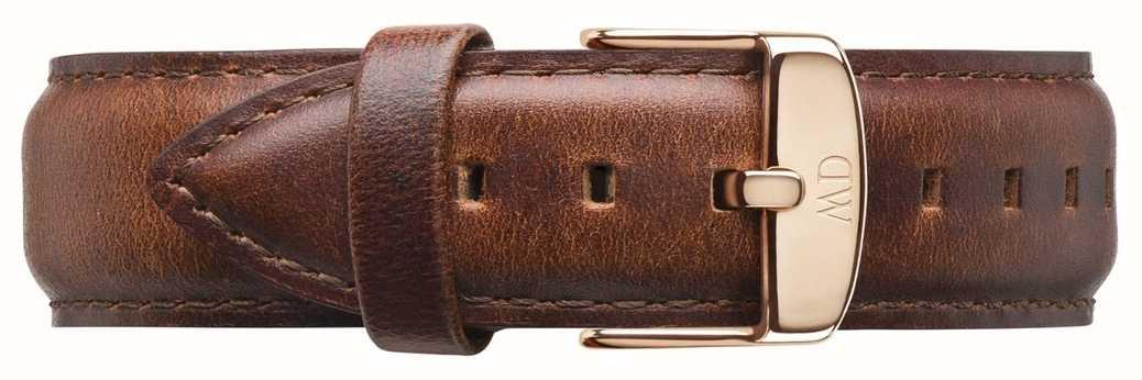 Daniel Wellington St mawes solo cinturino in pelle marrone DW00200006