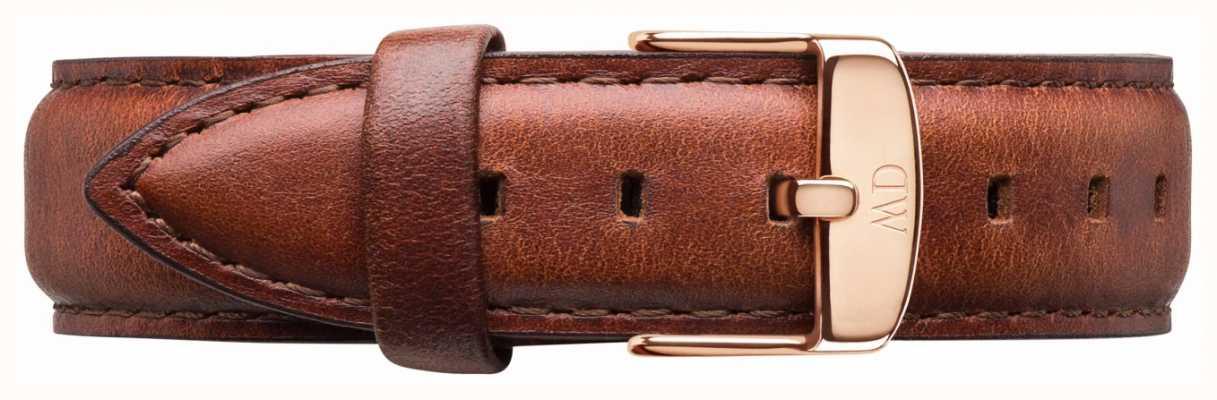 Daniel Wellington Solo St. Mawes cinturino in pelle marrone DW00200035