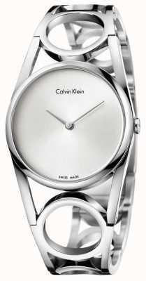 Calvin Klein Delle donne quadrante argentato rotonda in acciaio inox K5U2S146