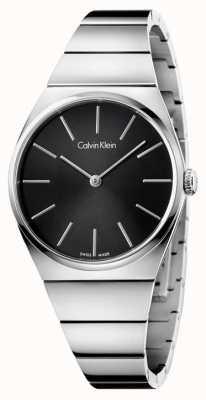 Calvin Klein Delle donne quadrante nero in acciaio inox suprema K6C2X141