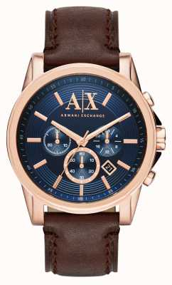 Armani Exchange Mens blu del cronografo marrone scuro AX2508