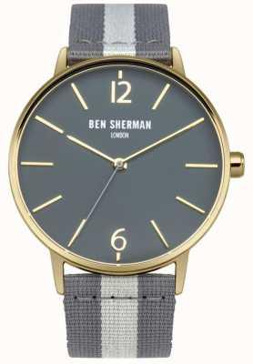 Ben Sherman Mens cinturino quadrante grigio grigio WB044EGA