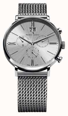 Maurice Lacroix Eliros data cronografo braccialetto della maglia d'argento EL1098-SS002-110-1