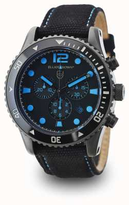 Elliot Brown Mens bloxworth tela nera quadrante nero 929-006-C02