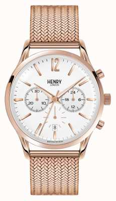 Henry London Unisex richmond placcato oro rosa pvd HL39-CM-0034