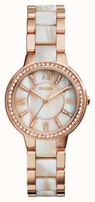 Fossil Donna virginia placcato oro rosa pvd ES3716