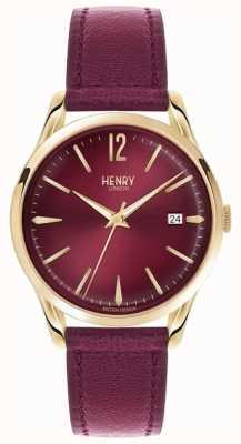 Henry London Holborn unisex bordeaux linea pelle bordeaux HL39-S-0066
