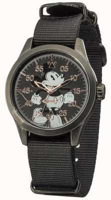 Disney By Ingersoll Topolino orologio con cinturino in nylon nero DIN008BKBK