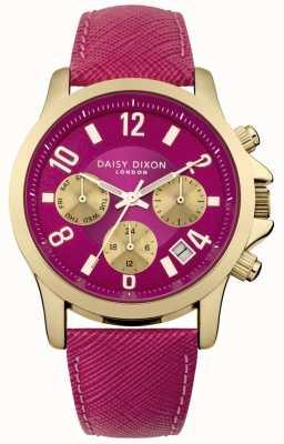 Daisy Dixon Donna adriana pelle rosa quadrante cinturino rosa DD002PG