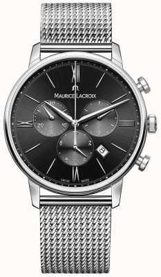Maurice Lacroix Acciaio quadrante nero Mens Milanais EL1098-SS002-310-1