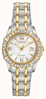 Citizen Eco-Drive 28 diamanti delle donne di due toni EW2364-50A