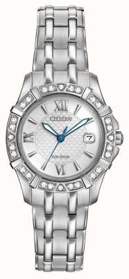 Citizen Eco-drive 28 diamanti in acciaio inossidabile EW2360-51A
