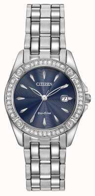 Citizen Womens caso Eco-Drive silhouette di cristallo EW2350-54L