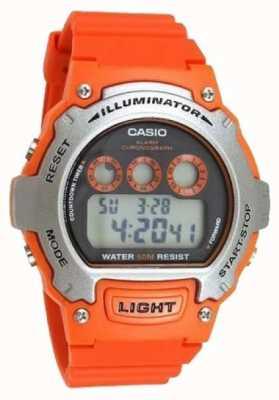 Casio allarme sport unisex illuminatore cronografo W-214H-4AVEF