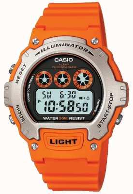 Casio Cronografo illuminatore unisex con allarme sportivo W-214H-4AVEF
