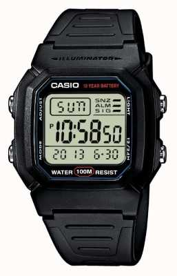Casio cronografo sportivo di allarme marcia W-800H-1AVES