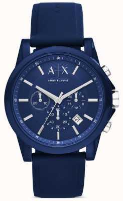 Armani Exchange Cronografo silicone blu AX1327