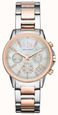 Armani Exchange Cronografo cinturino in cinturino bicolore AX4331