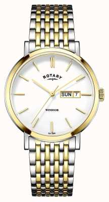 Rotary Mens placcato due toni oro GB05301/01