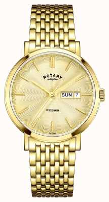 Rotary placcato oro Mens quadrante in oro GB05303/03