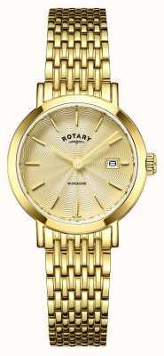 Rotary Donna orologi placcato oro Windsor LB05303/03