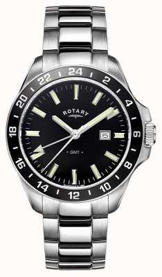 Rotary Mens avana GMT in acciaio inox GB05017/04