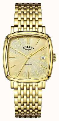 Rotary Mens Windsor PVD oro placcato GB05308/03