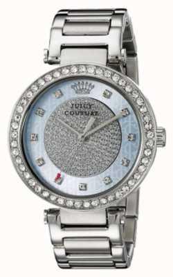 Juicy Couture Delle donne quadrante argento rotonda cinturino in argento 1901266