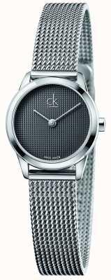 Calvin Klein Delle donne quadrante grigio minimal K3M2312X