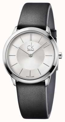 Calvin Klein Mens quadrante argentato minima K3M221C6