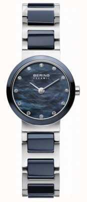 Bering Womens quadrante blu argento placcato cinghia blu 10725-787