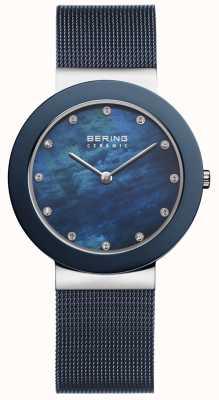 Bering Delle donne blu cinturino quadrante blu 11435-387