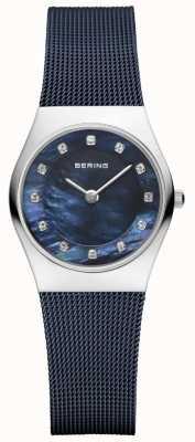 Bering Delle donne blu cinturino quadrante blu 11927-307