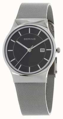 Bering Cinturino in argento nera in argento 11938-002