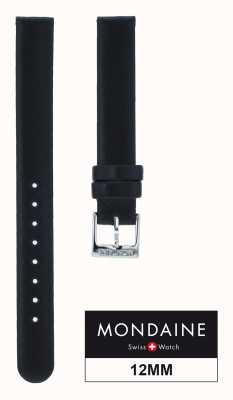 Mondaine Delle donne in vera pelle solo cinturino nero 12 millimetri FE311220Q