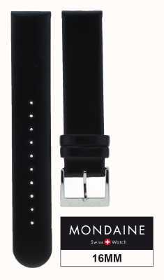 Mondaine Cinturino in pelle nera 16mm FE311620Q