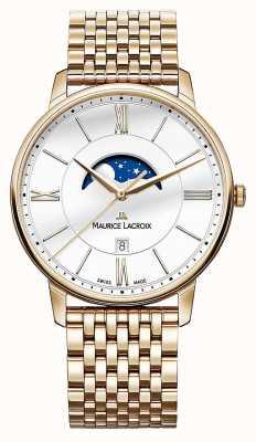 Maurice Lacroix Mens Eliros orologio fasi lunari in oro placcato EL1108-PVP06-112-1