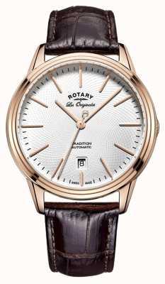 Rotary Mens les originales tradizione in pelle marrone GS90164/02