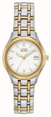 Citizen Onorevoli cassa e bracciale in acciaio inox a due tonalità EW1264-50A