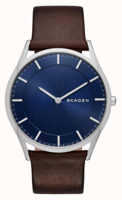 Skagen orologio Holst pelle marrone SKW6237