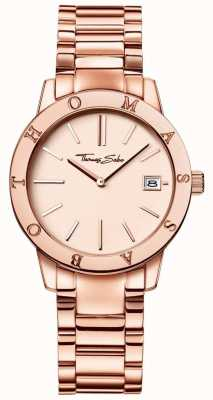 Thomas Sabo Womans rosa in acciaio inox quadrante color oro WA0175-265-208-33
