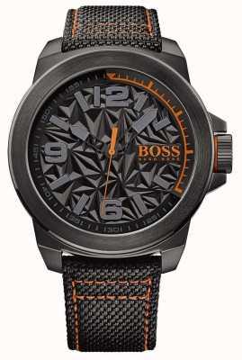 Hugo Boss Orange Uomo nero placcato cinghia quadrante modello grigio 1513343