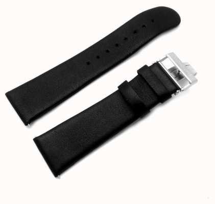 Mondaine | cinturino in pelle nera | chiusura di implementazione | 22mm | FC1682220Q
