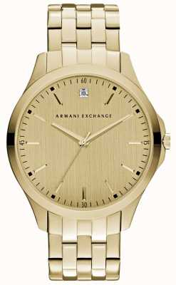 Armani Exchange Mens Hampton quadrante in oro lucido AX2167
